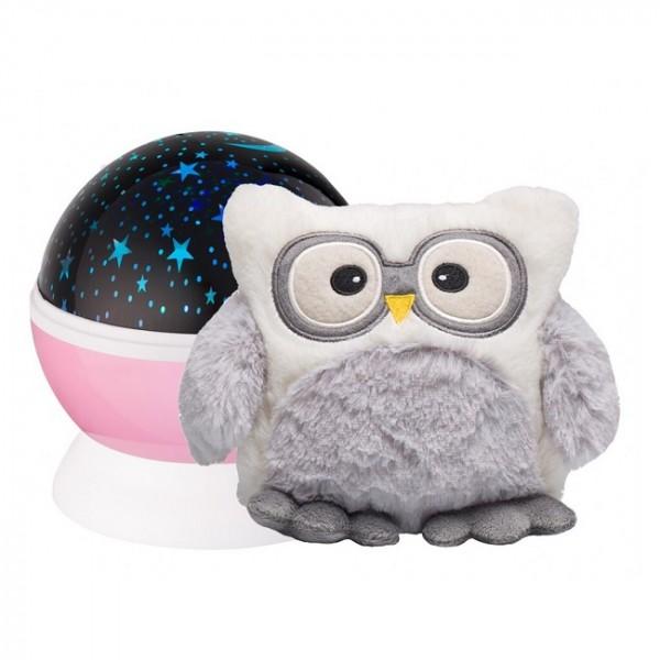 Ночник-проектор звездного неба с игрушкой LITTLE OWL