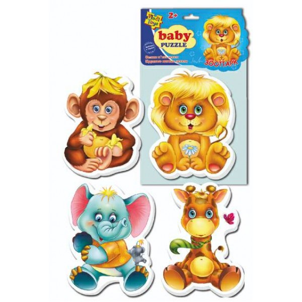 VladiToys. Мягкие пазлы (Baby puzzle) Зоопарк