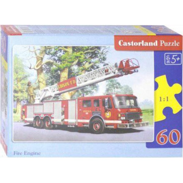 Castorland. Пазл 60 MIDI Пожарная команда