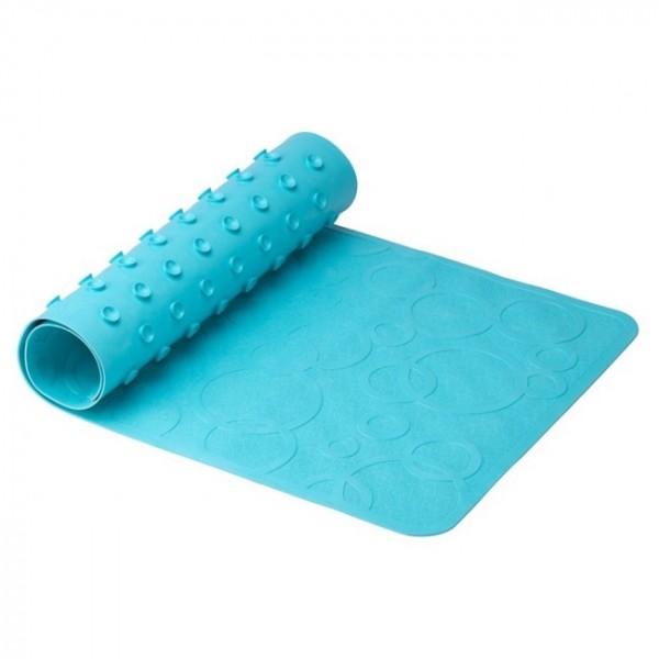 Антискользящий резиновый коврик для ванны без отверстий (аквамарин)