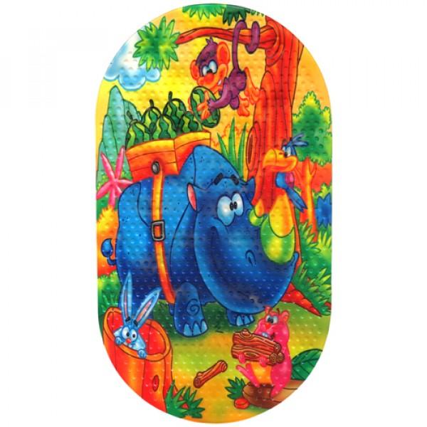 MAGIC MAT Коврик противоскользящий в ванную 68*38 Носорог