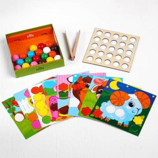 Мозаика Ферма с карточками и шариками