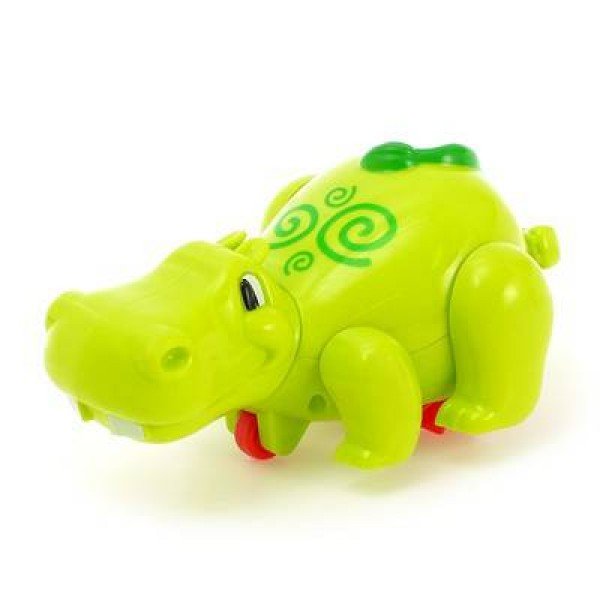 Водоплавающая заводная игрушка 2 в 1 Бегемотик, бегает по полу и плавает в воде, зеленый