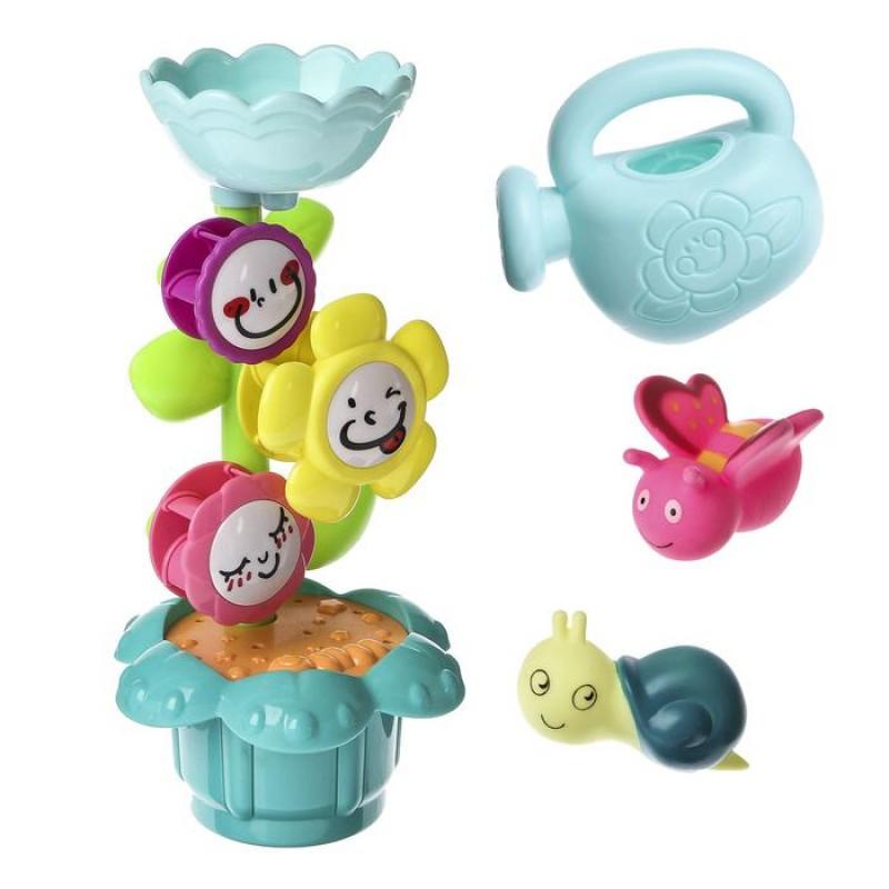 Игрушки для купания Букашки и цветок, 4 предмета