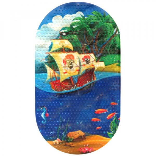 MAGIC MAT Коврик противоскользящий в ванную 68*38 Корабль