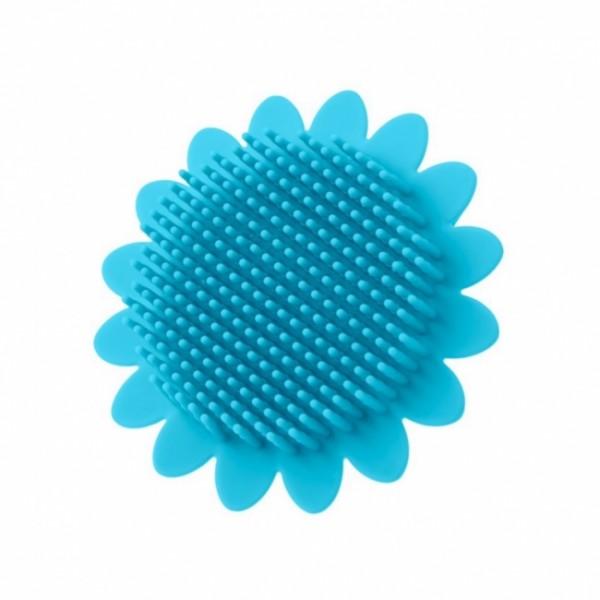 Губка для тела силиконовая (подсолнух). Цвет: голубой Материал: полиэстер, пенополиуретан.