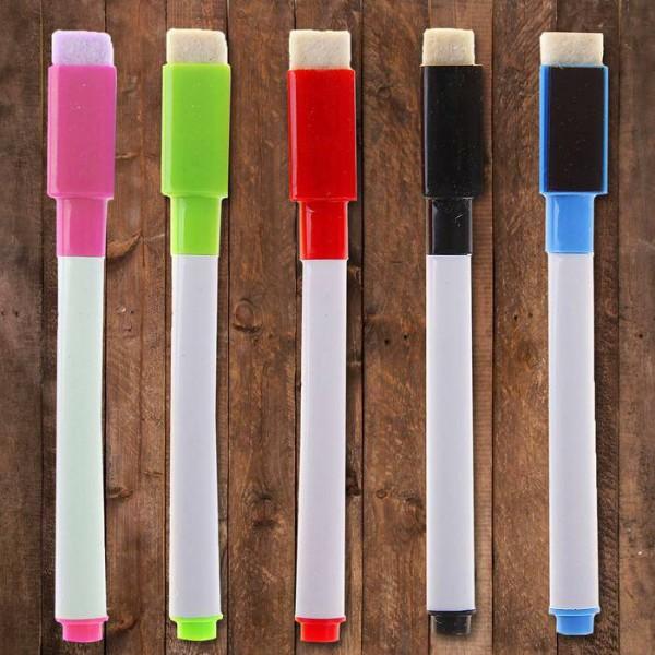 Маркер с магнитом, цветной, на водной основе, (набор 5 шт)