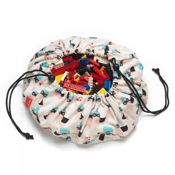 2 в 1: мини-мешок (40 см) для хранения игрушек и игровой коврик Play&Go. Принт супергёрл.