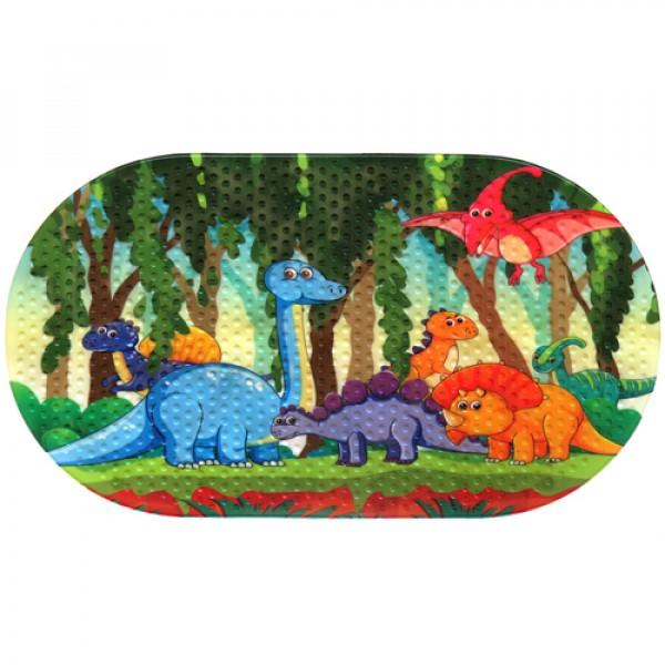 MAGIC MAT Коврик противоскользящий в ванную 68*38 Динозавры
