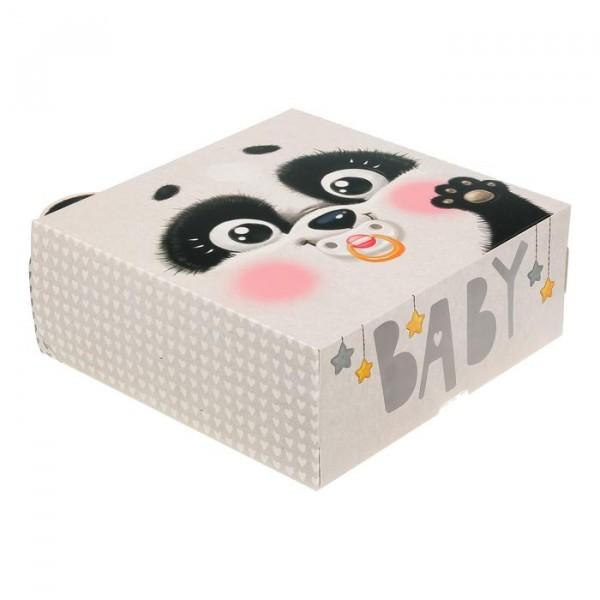 Коробка складная Baby панда, 25 × 25 × 10 см