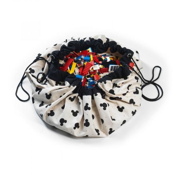2 в 1: мешок Disney Mickey Black для хранения игрушек и игровой коврик Play&Go.