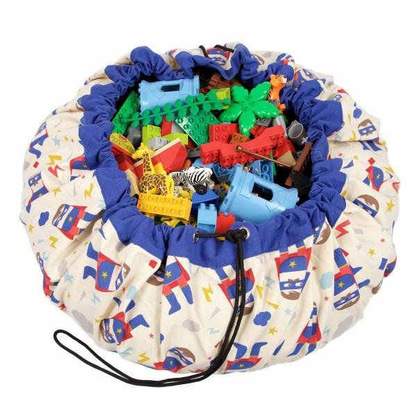 2 в 1: мешок для хранения игрушек и игровой коврик Play&Go. Коллекция Designer. Супергерой.