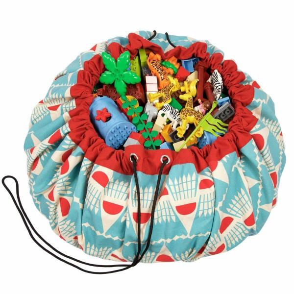 2 в 1: мешок для хранения игрушек и игровой коврик Play&Go. Коллекция Designer. Бадминтон.
