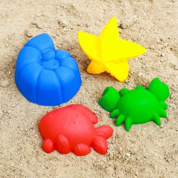 Набор для игры в песке №60: 4 формочки