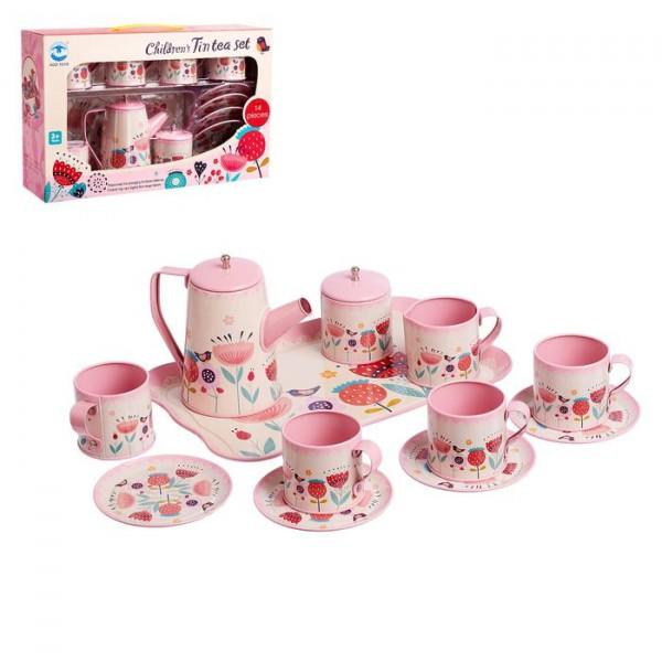 Набор металлической посудки Чаепитие, 14 предметов