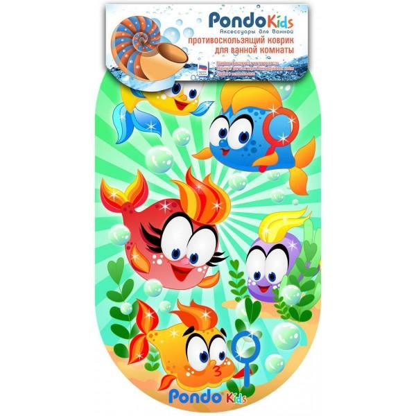 PondoKids коврик для ванны, 69*39(±1)см, Веселые Рыбки