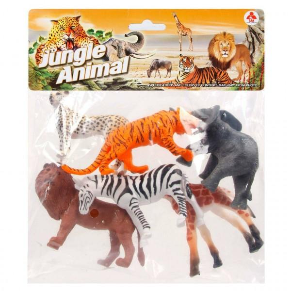 Набор диких животных Jungle animal, 8см, 6шт.