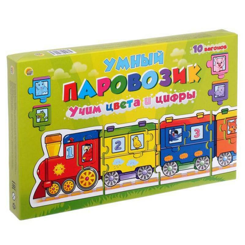 Игра-пазл Умный паровозик. Учим цвета и цифры