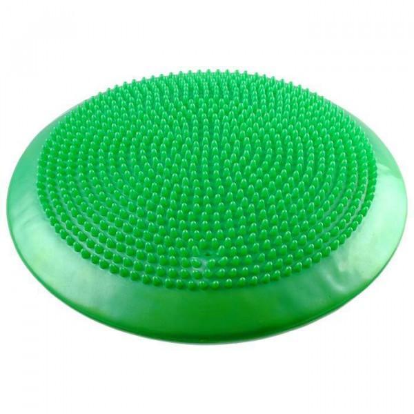 Подушка балансировочная, массажная, d=35 см, зеленый