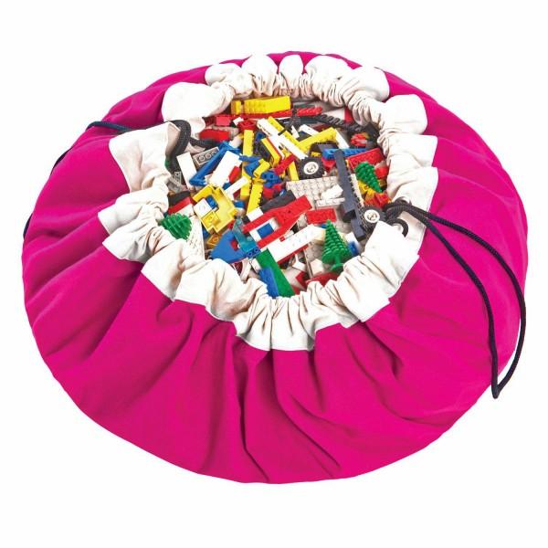 2 в 1: мешок для хранения игрушек и игровой коврик Play&Go. Коллекция Classic. Фуксия.