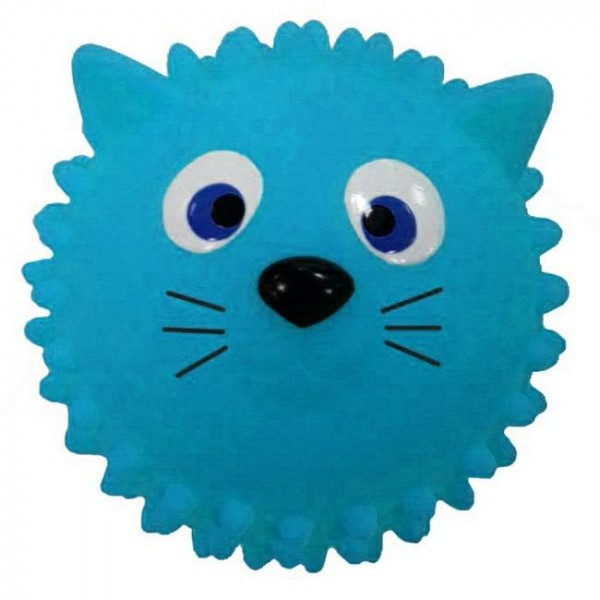 Мяч массажный  Кошка 8,5 см (голубая)