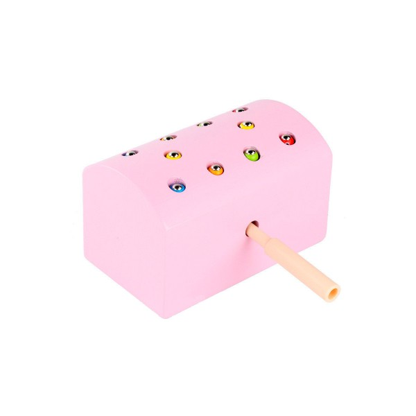 Поймай червячка магнитная рыбалка сундучок розовый
