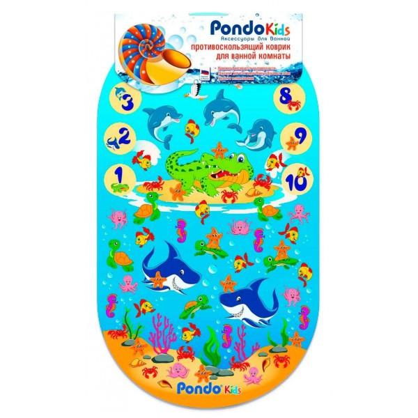 PondoKids коврик для ванны, 69*39(±1)см, Цифры