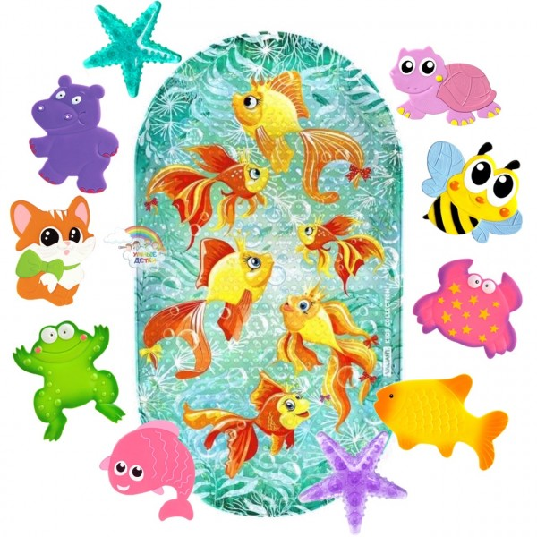 Набор ковриков на дно Valiant Золотые рыбки + 10 мини-ковриков