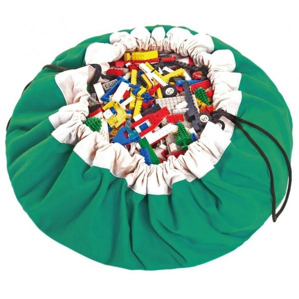 2 в 1: мешок для хранения игрушек и игровой коврик Play&Go. Коллекция Classic. Зелёный