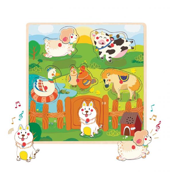 Вкладыши со звуками животных Ферма