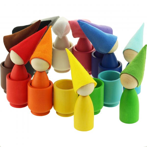Набор Гномики большие в колпачках в стаканчиках (12 штук) Уланик