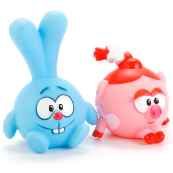 Играем вместе. Набор из 2-х игрушек для ванной Смешарики.Нюша и Крош