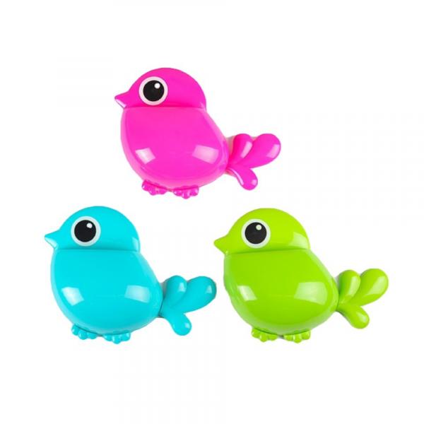 Держатель для зубных щёток, детский Птичка,зеленая