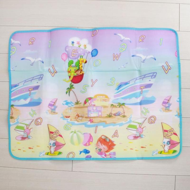 Коврик детский на фольгированной основе Морское путешествие, размер 119х88 см, пляж