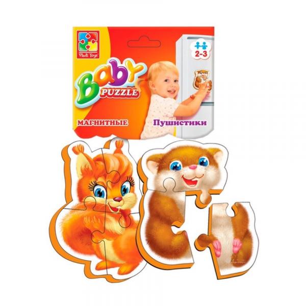 VladiToys. Мягкие магнитные пазлы (Baby puzzle) Пушистики