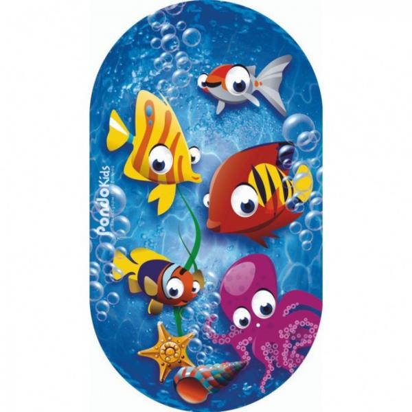PondoKids Коврик для ванны, 69*39(±1)см, Рыбки