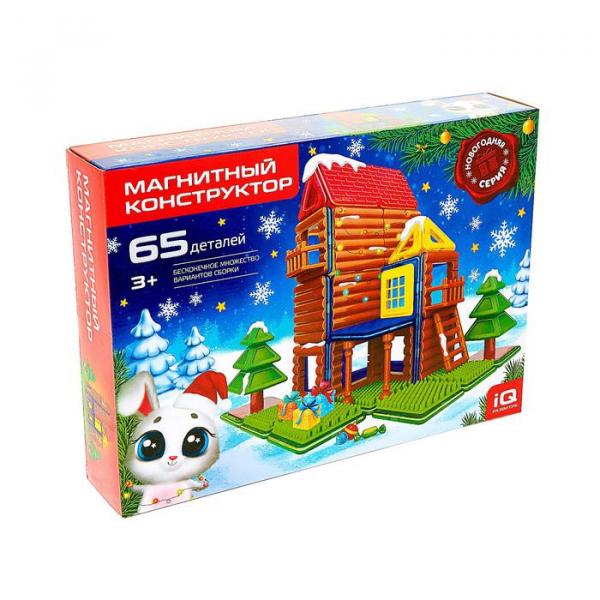Магнитный конструктор, Новогодняя серия, 65 деталей, Sl-02720