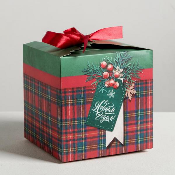 Коробки складные С Новым годом!, 25 × 25 × 25 см