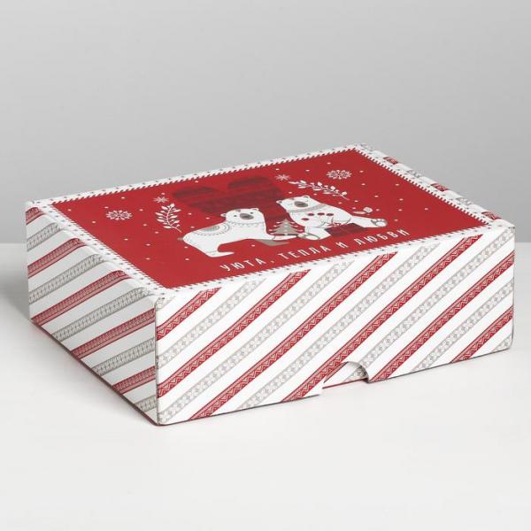 Коробка складная Новогодняя, 30.7 × 22 × 9.5 см