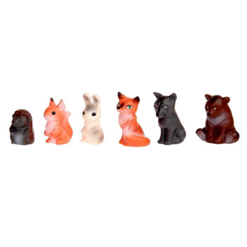 Набор резиновых игрушек Животные леса