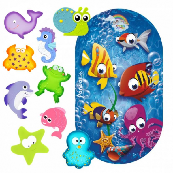 PondoKids Коврик для ванны Рыбки + 9 мини-ковриков Valiant