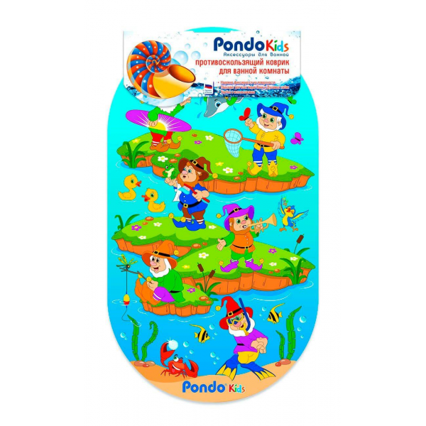PondoKids коврик для ванны, 69*39(±1)см, Гномики