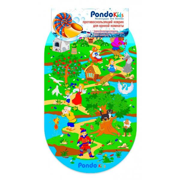 PondoKids коврик для ванны, 69*39(±1)см, Сказки