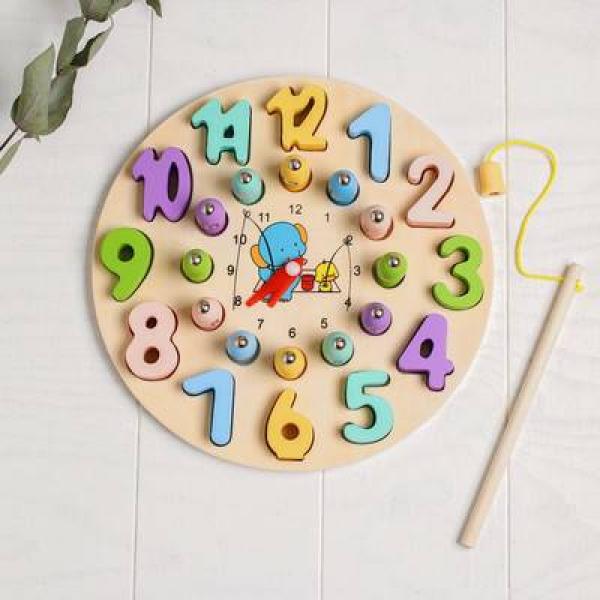 Развивающая игра  Рыбалка-часы 3,5х22,5х22,5 см