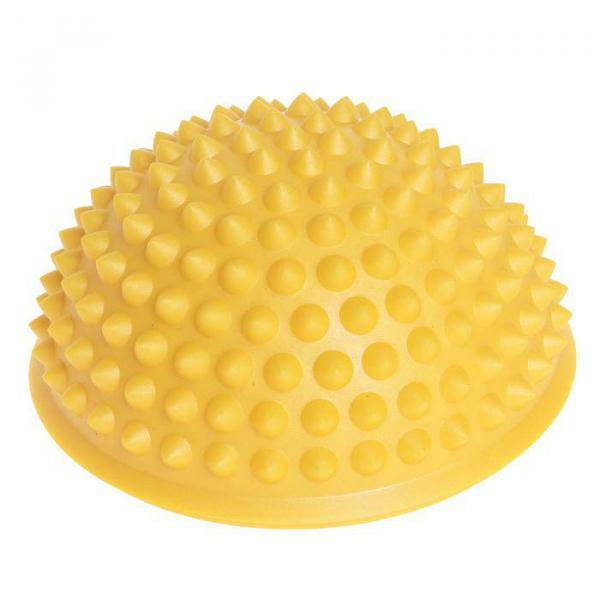 Массажер надувной для ног,  d=15 см, желтый