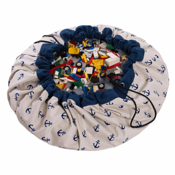 2 в 1: мешок для хранения игрушек и игровой коврик Play&Go. Коллекция Print. Якоря.