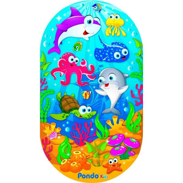 PondoKids коврик для ванны, 69*39(±1)см, Морские Обитатели