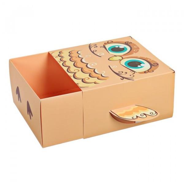 Коробка складная Сова, 15 × 15 × 8 см