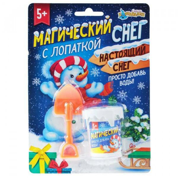 Искуственный снег Снеговик с лопаткой, цвета МИКС