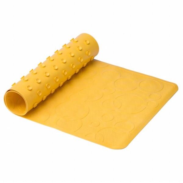 Антискользящий резиновый коврик для ванны без отверстий (жёлтый)